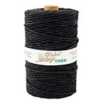 Black 170# Polished Hemp Cord
