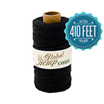 Black 20# Polished Hemp Cord