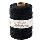 Black 48# Polished Hemp Cord